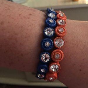 Orange & Blue bracelet bundle